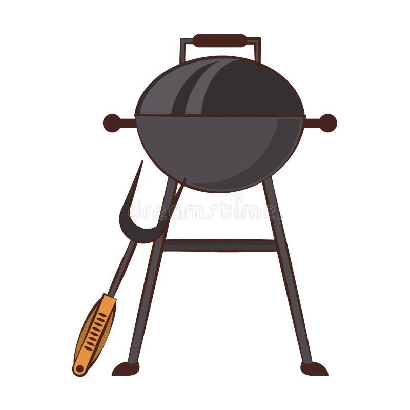Équipement de gril de barbecue pour le cuisinier d'isolement illustration stock
