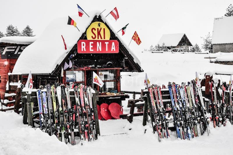 Équipement de location de ski images libres de droits