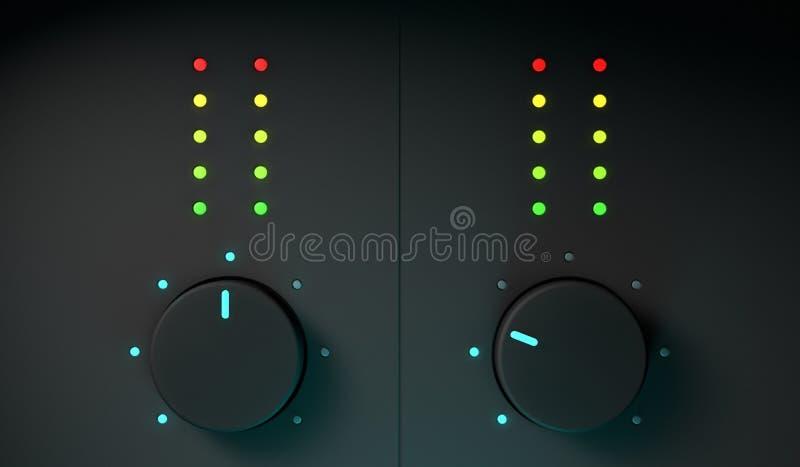 équipement de mélangeur de 3d DJ illustration libre de droits