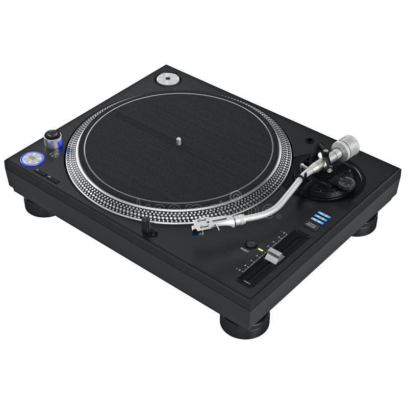 Équipement de mélangeur de musique du DJ de plaque tournante images libres de droits