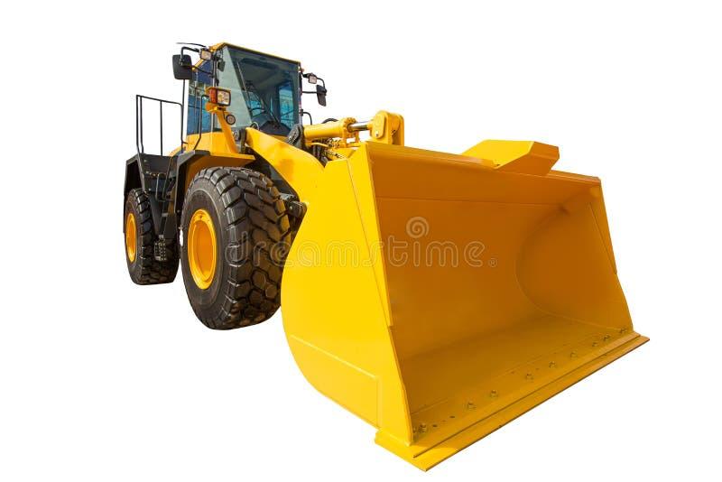 Équipement de machines de construction d'excavatrice de chargeur de roue d'isolement image stock