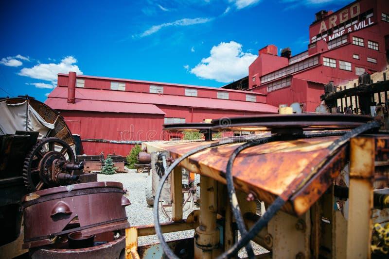 Équipement de mine d'or en ressorts de l'Idaho image stock