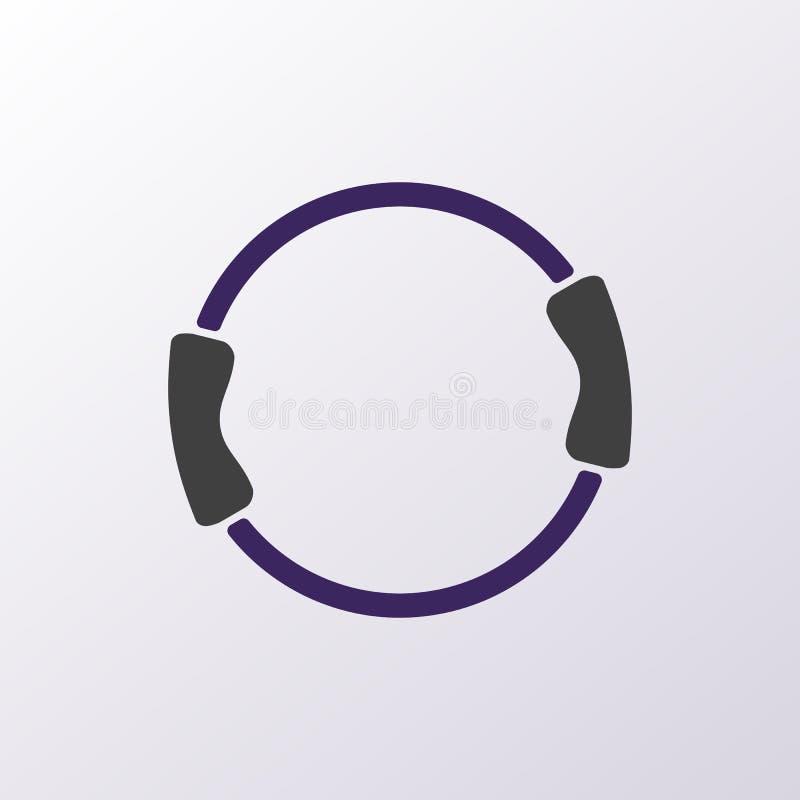 Équipement de Pilates - double forme physique de poignée modifiant la tonalité l'icône d'anneau image stock