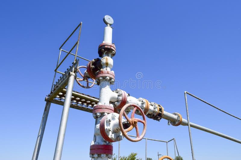 Équipement de tête de puits de puits de pétrole E photos libres de droits
