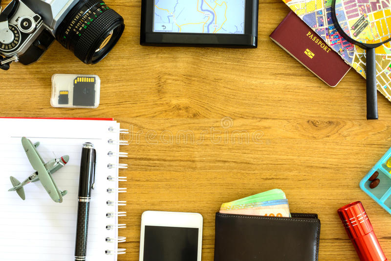 Équipement de voyageur photographie stock libre de droits