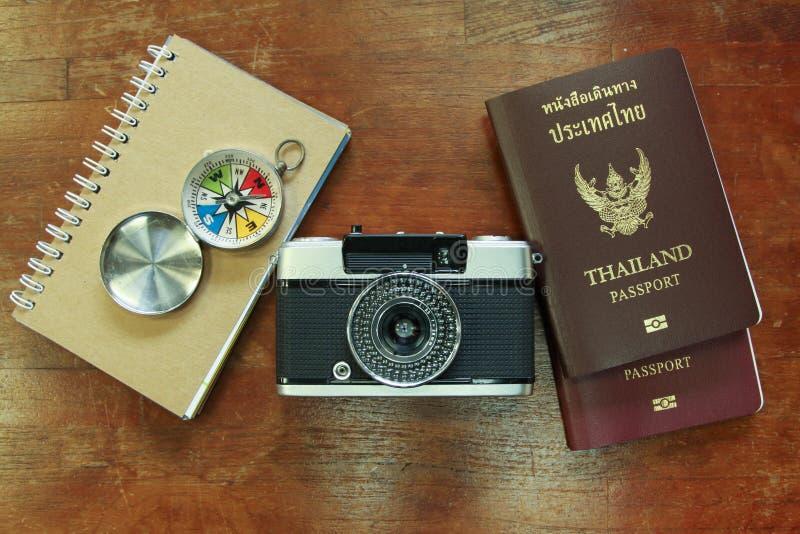 Équipement de voyageur photo libre de droits