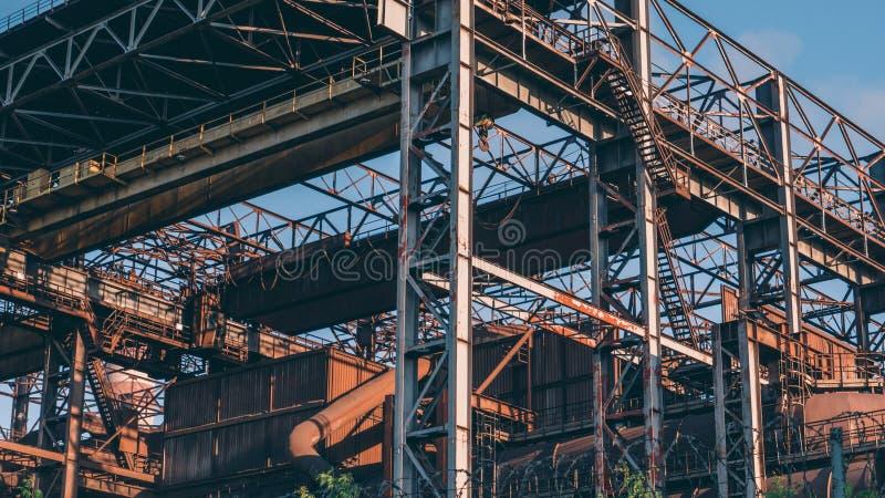 Équipement en acier d'architecture de construction de fabrication d'industrie lourde photographie stock
