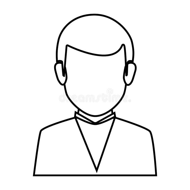 Équipement formel de demi homme sans visage de corps de silhouette illustration libre de droits