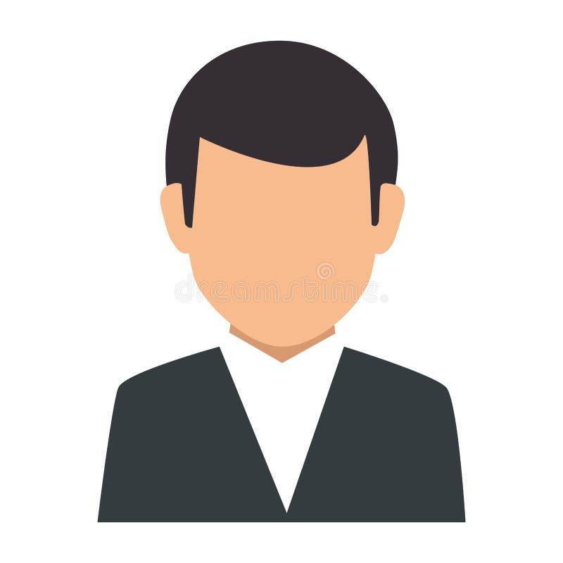 Équipement formel de silhouette de demi homme sans visage coloré de corps illustration libre de droits