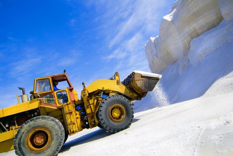 Équipement minier de sel photos libres de droits