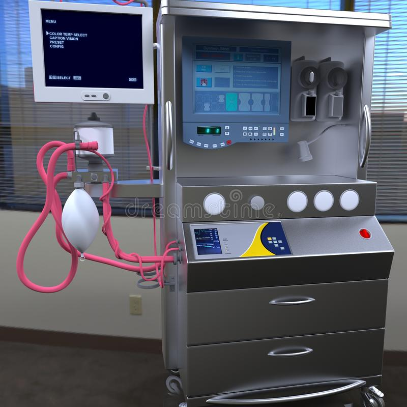 Équipement moderne d'hôpital photographie stock