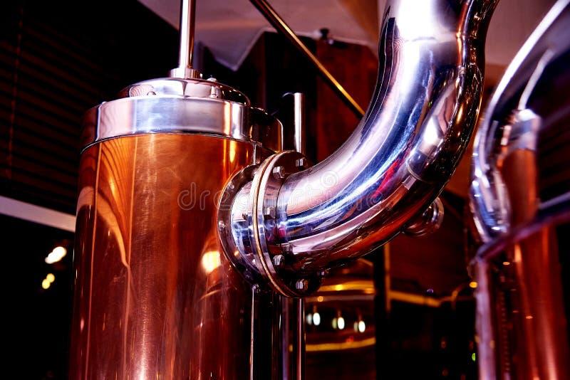 Équipement pour la préparation de la bière image libre de droits