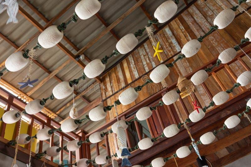 Équipement pour trouver des poissons utilisés pour concevoir et décorer la maison au plafond Idées de décoration, design, images stock