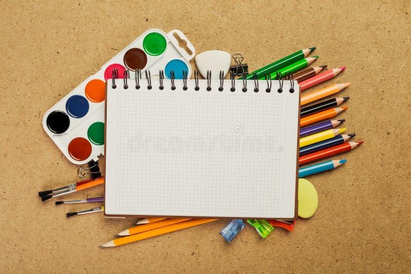 Équipements de dessin photographie stock
