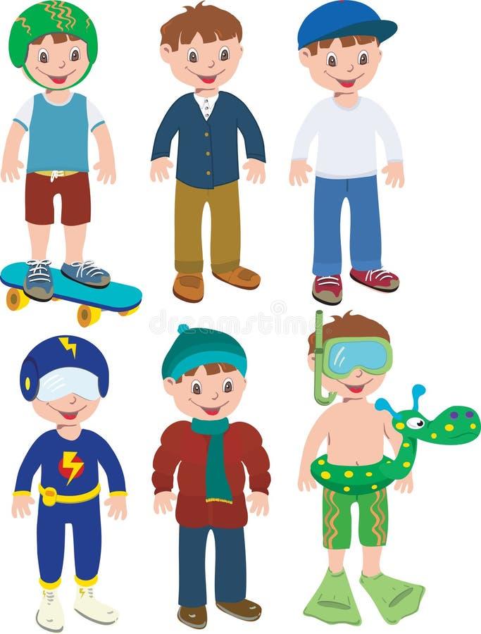 Équipements de garçon illustration libre de droits