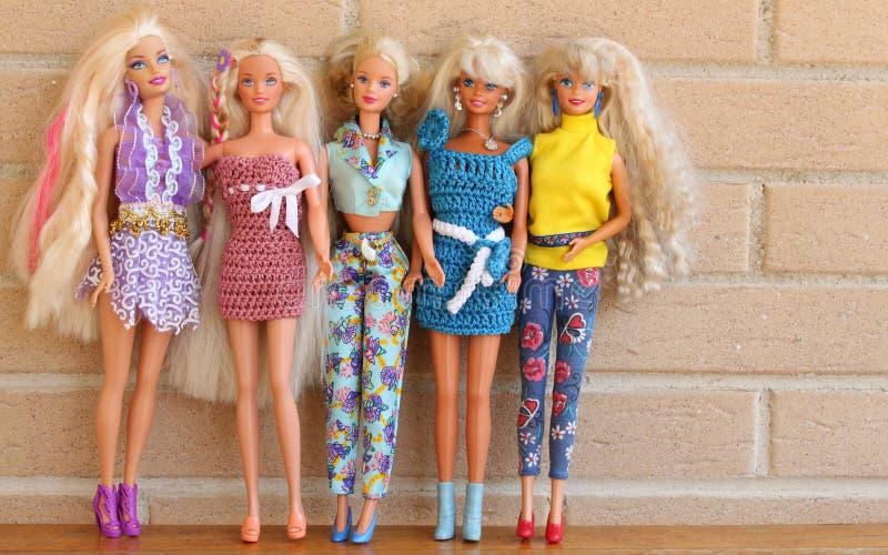 Équipements 80s et 90s de petit morceau de poupées de Barbie photo libre de droits