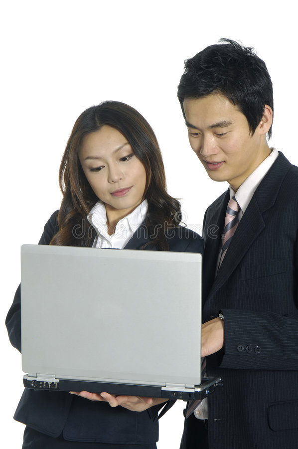 équipes asiatiques d'affaires image stock