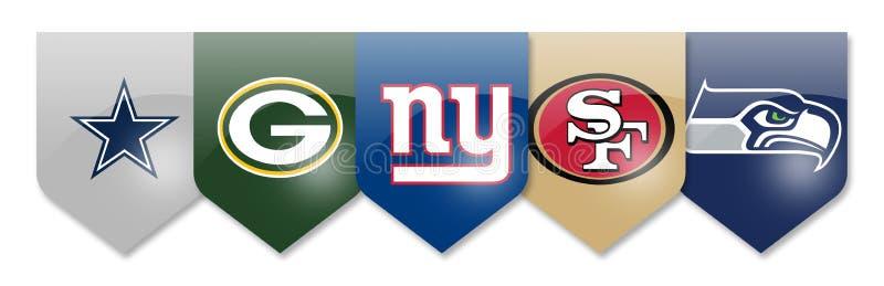 Équipes du NFL sur le blanc