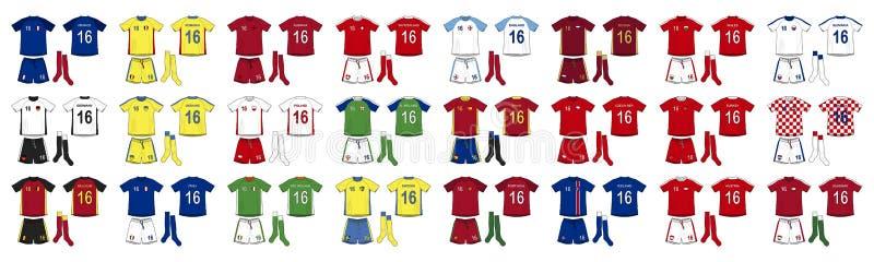 Équipes nationales de kits génériques de l'Europe illustration libre de droits