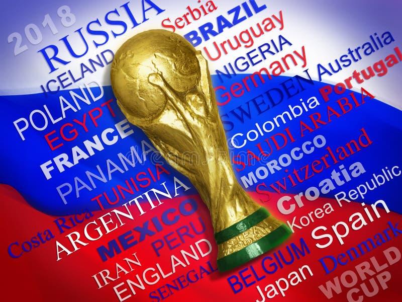 Équipes qualifiées de la coupe du monde 2018 image libre de droits