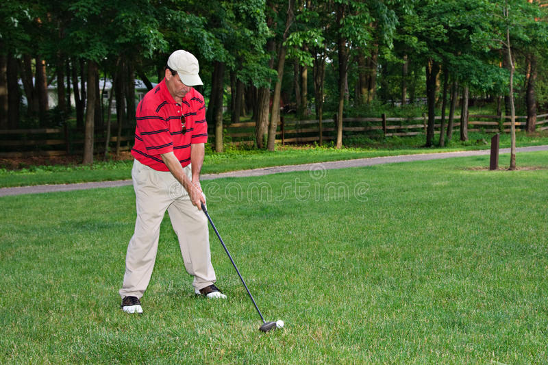 Équipez jouer au golf image libre de droits