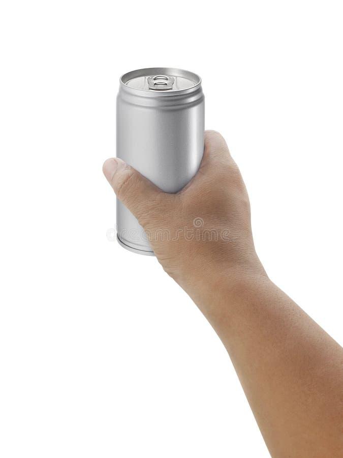 Équipez juger la boîte en aluminium d'isolement sur le fond blanc images stock