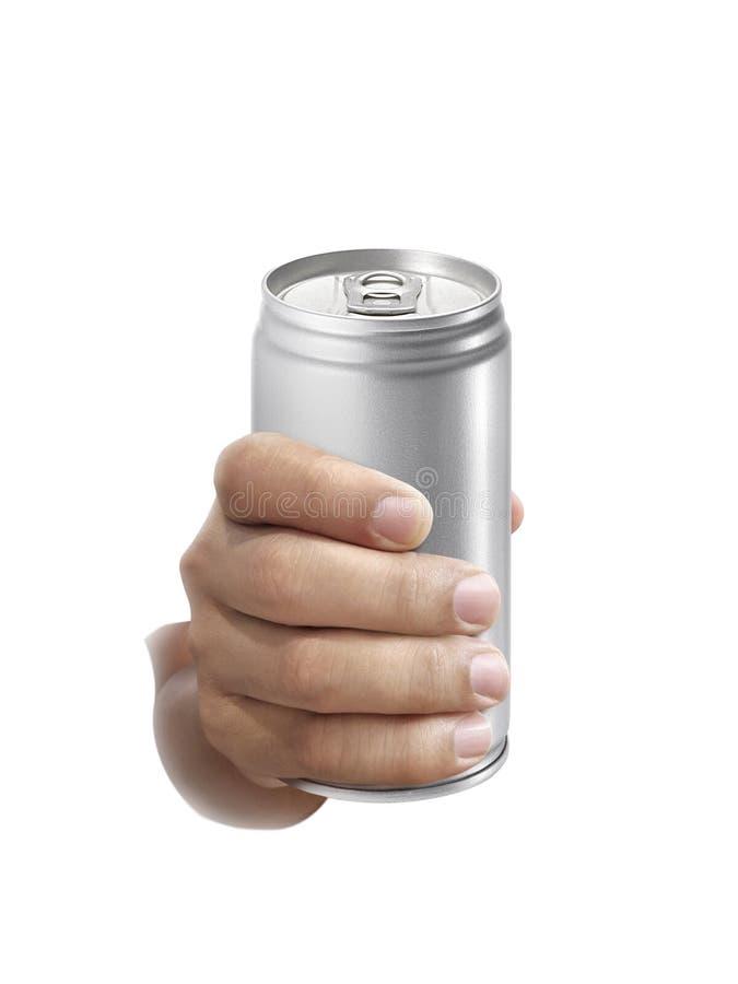 Équipez juger la boîte en aluminium d'isolement sur le fond blanc image libre de droits