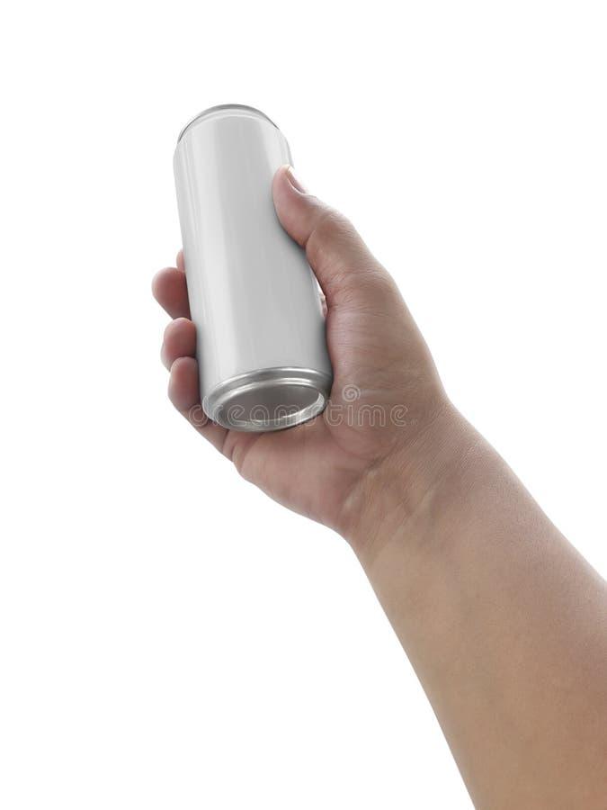 Équipez juger la boîte en aluminium d'isolement sur le fond blanc photographie stock