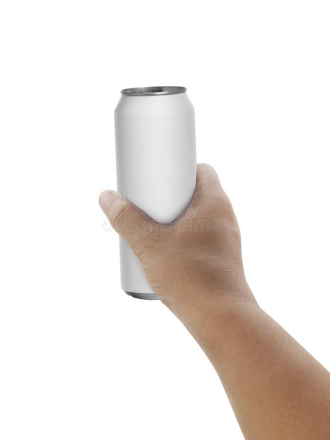 Équipez juger la boîte en aluminium d'isolement sur le fond blanc photos libres de droits