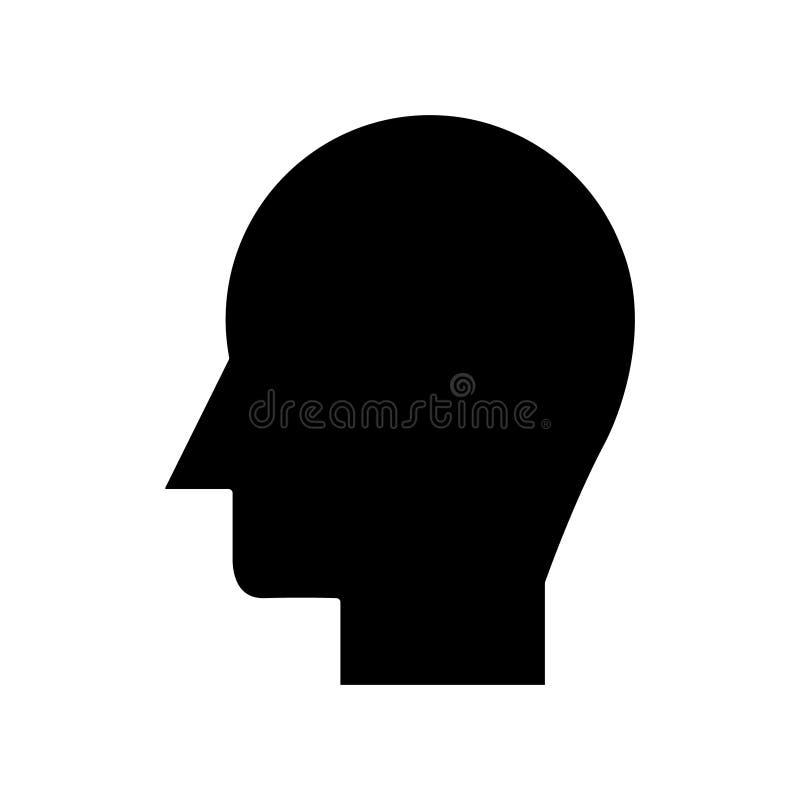 Équipez l'icône principale, dirigez l'illustration, connectez-vous le fond d'isolement illustration de vecteur