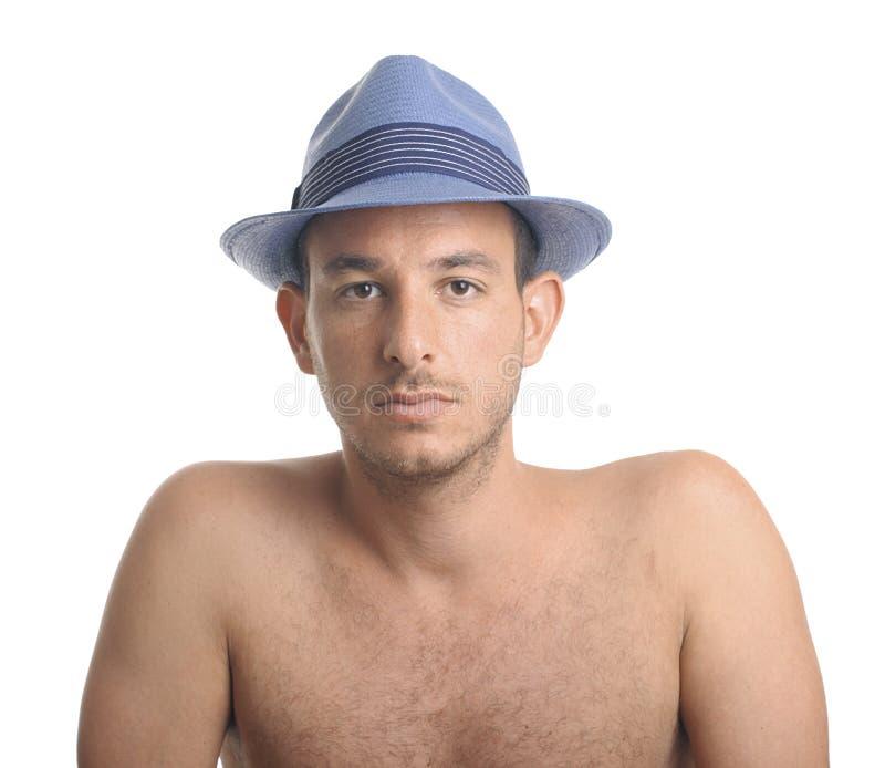 Équipez le chapeau de bleu de wirh photos stock