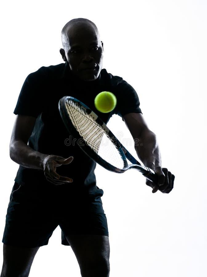 Équipez le revers de joueur de tennis images libres de droits
