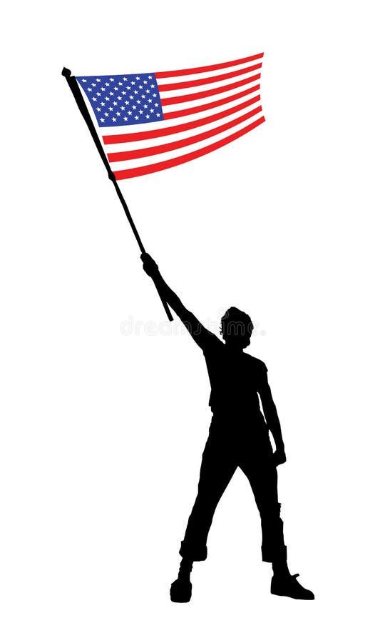 Équipez retenir un indicateur des Etats-Unis, illustration de vecteur illustration libre de droits