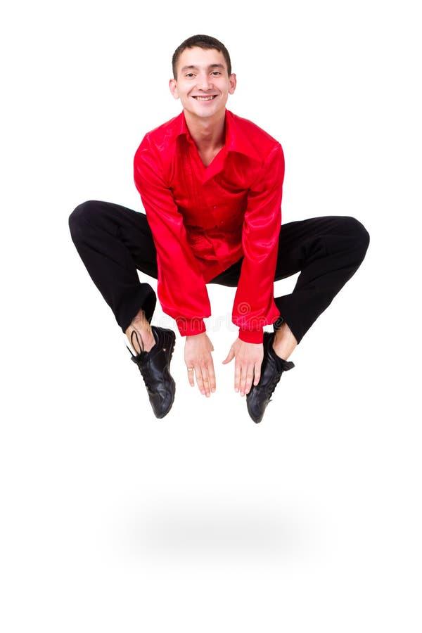 Fentes sautantes de danseur d'homme photos stock