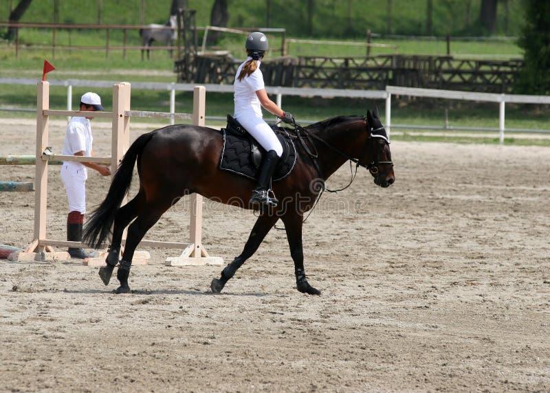 Équitation de fille photo libre de droits