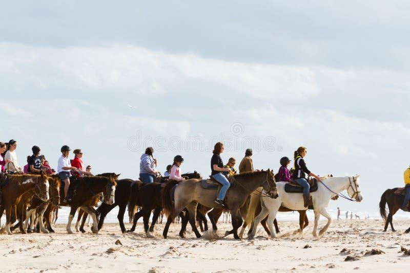 Équitation de Horeseback photographie stock