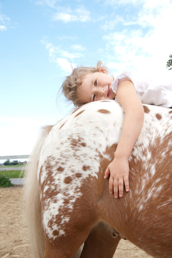 Équitation de poney photo libre de droits