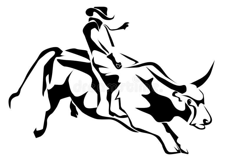 Équitation de Taureau illustration libre de droits