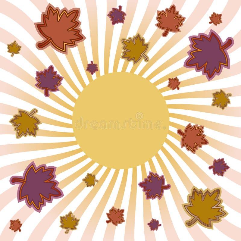 érable de lame d'éclat d'automne illustration libre de droits