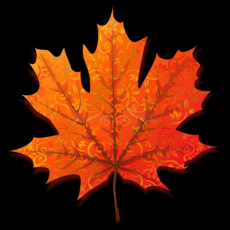 érable de lame d'automne illustration de vecteur
