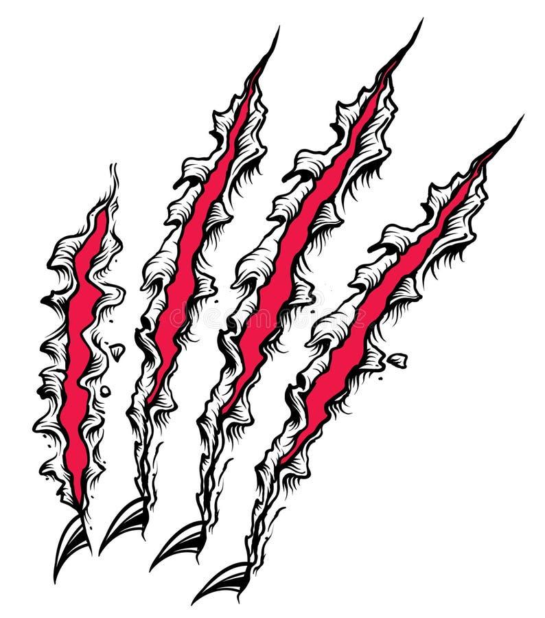 Éraflure de griffe illustration de vecteur