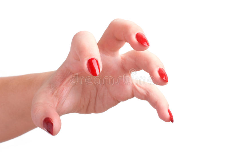 Éraflure de la main de femme image libre de droits