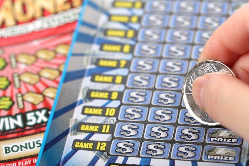 Éraflure du billet de loterie photo libre de droits
