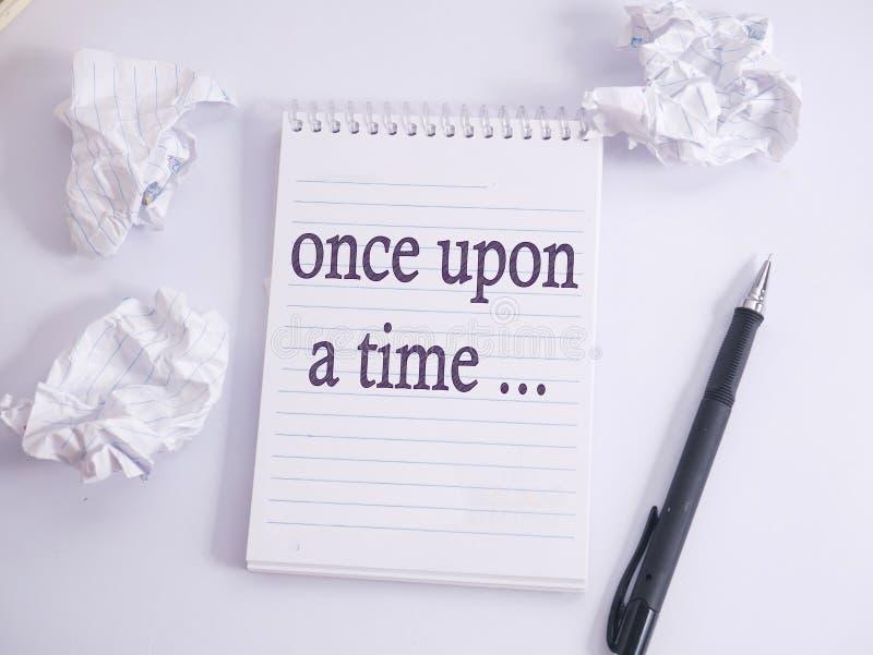 Érase una vez, citas inspiradas de motivación de la narración de cuentos imagen de archivo