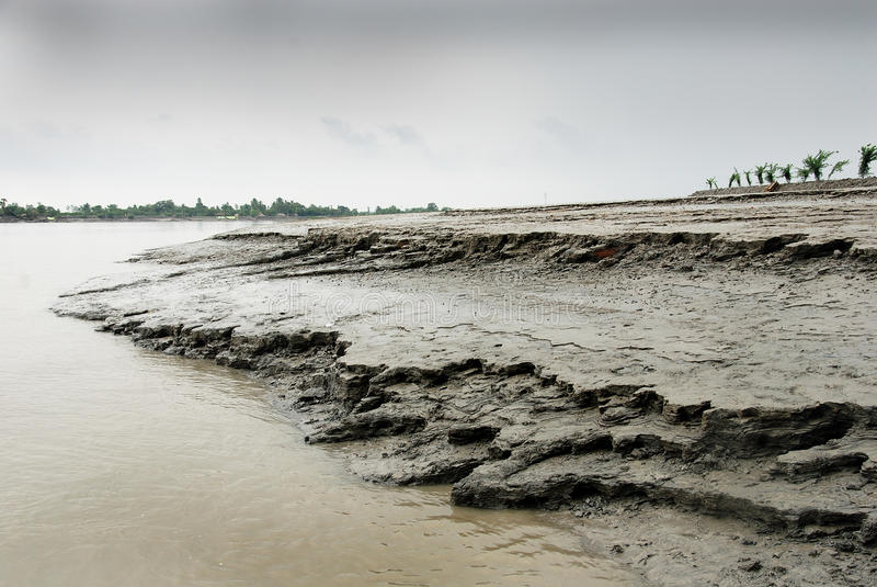 Érosion de fleuve photo stock