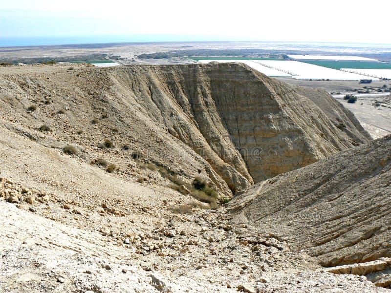 Érosion de ruisselet - collines de désert images stock