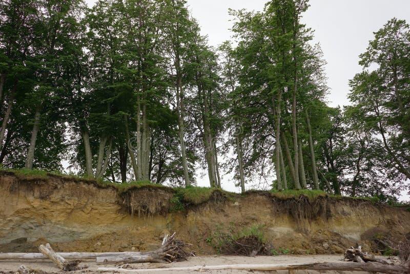 Érosion du sol de glissière photographie stock