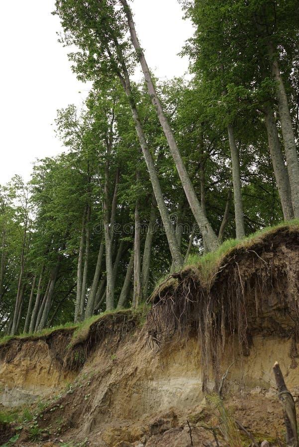 Érosion du sol de glissière image stock