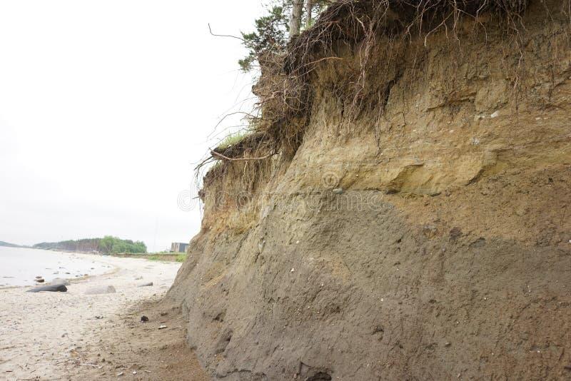 Érosion du sol de glissière photos stock