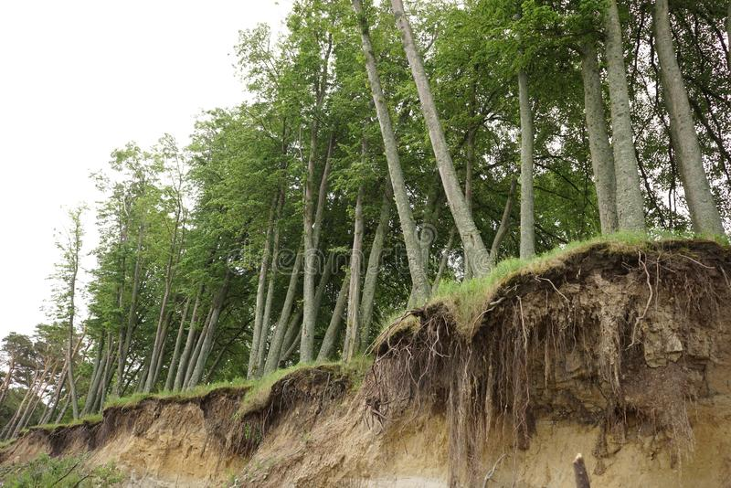 Érosion du sol de glissière image libre de droits